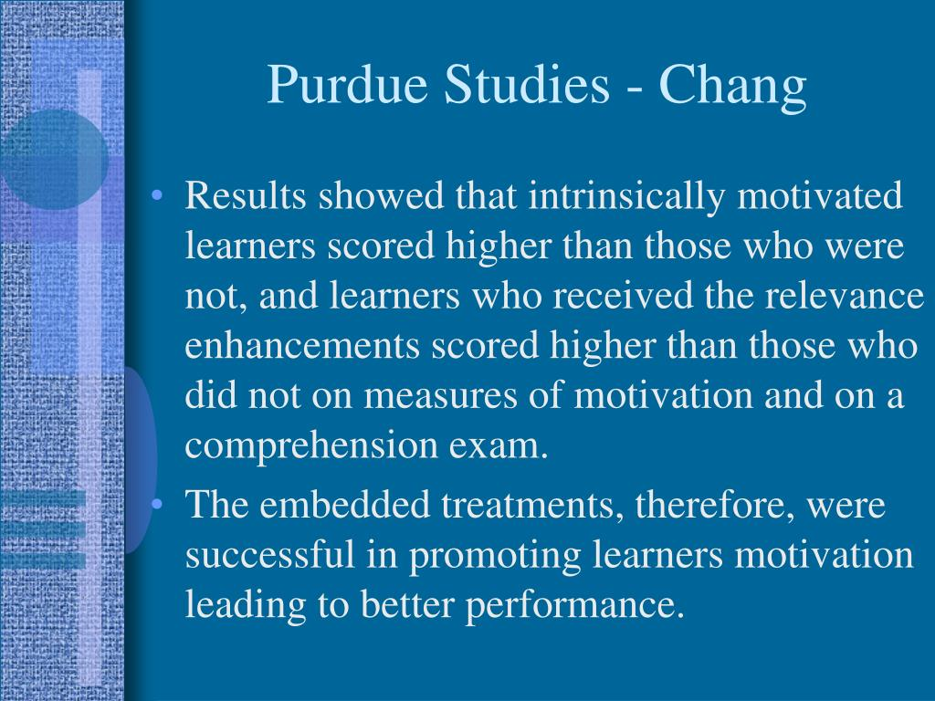 Purdue Studies - Chang