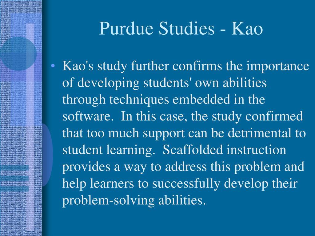 Purdue Studies - Kao