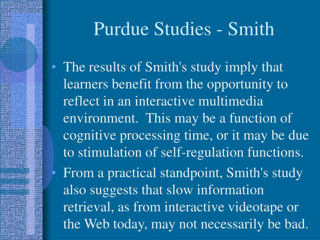 Purdue Studies - Smith
