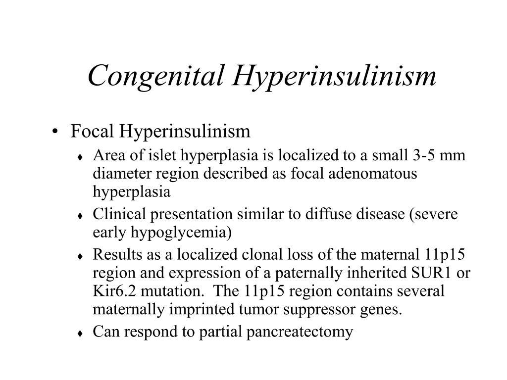 Congenital Hyperinsulinism