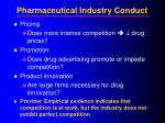 pharmaceutical industry conduct