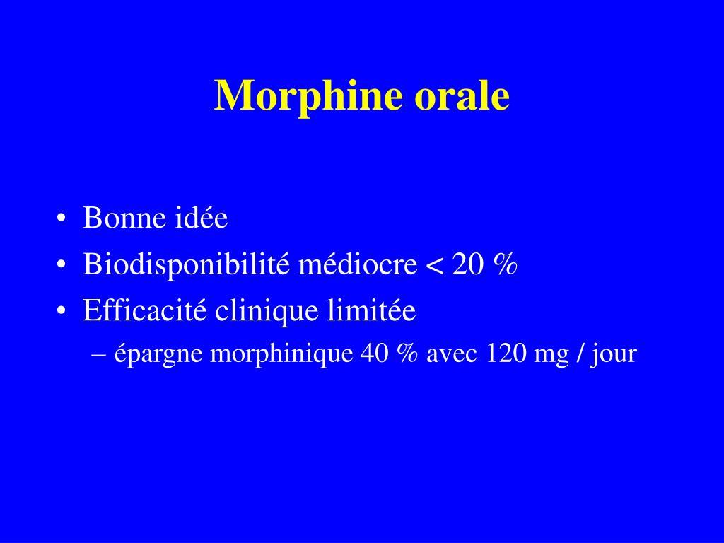 Morphine orale