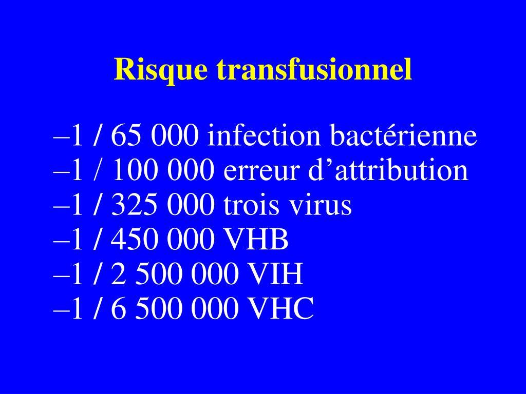 Risque transfusionnel