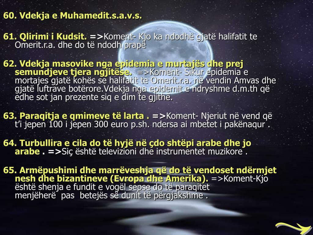 60. Vdekja e Muhamedit.s.a.v.s.