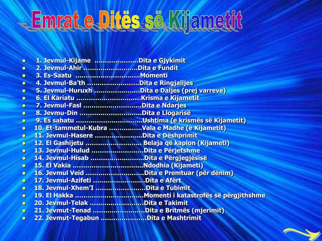 Emrat e Dits s Kijametit