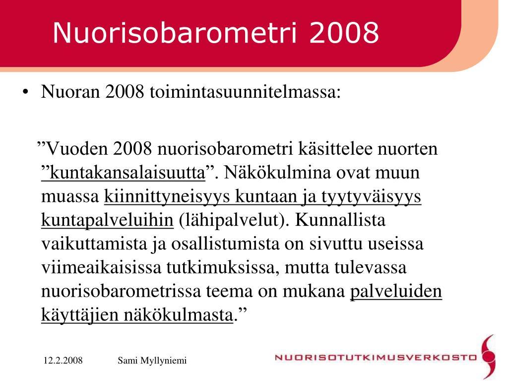 Nuorisobarometri 2008