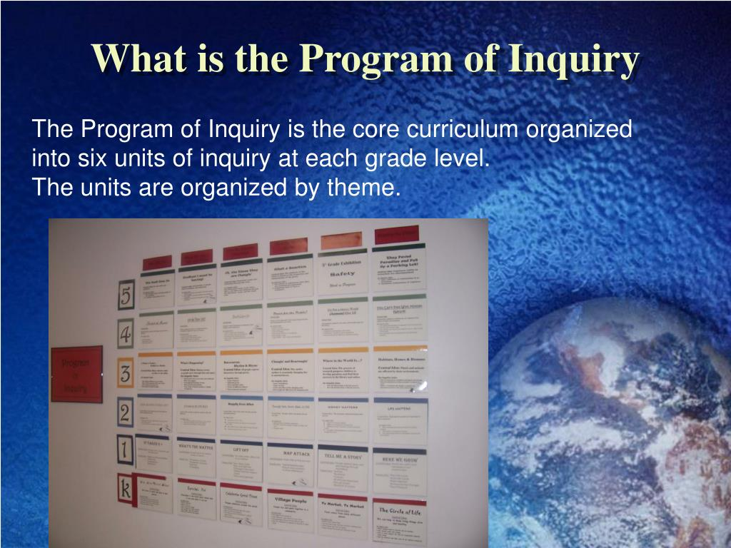 What is the Program of Inquiry