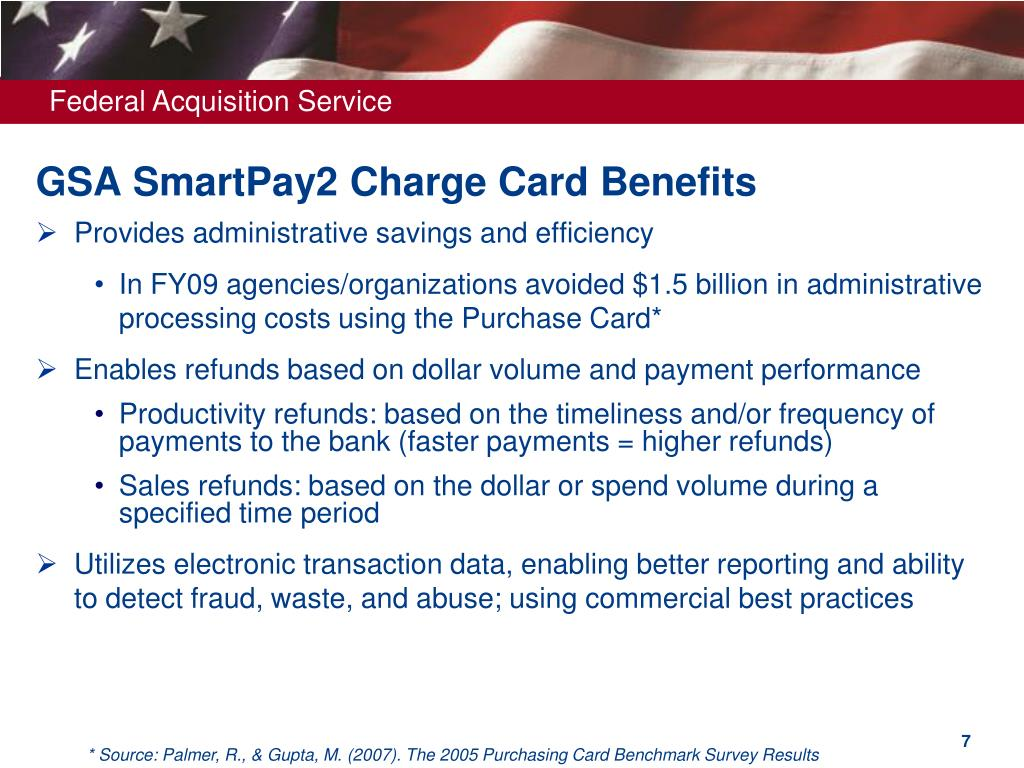 GSA SmartPay2 Charge Card Benefits