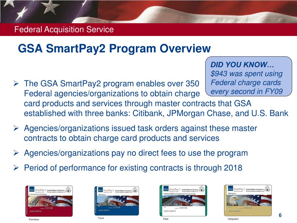 GSA SmartPay2 Program Overview