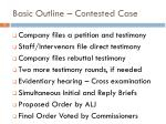 basic outline contested case