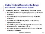 digital system design methodology adsl mo dem choosing suitable structure34