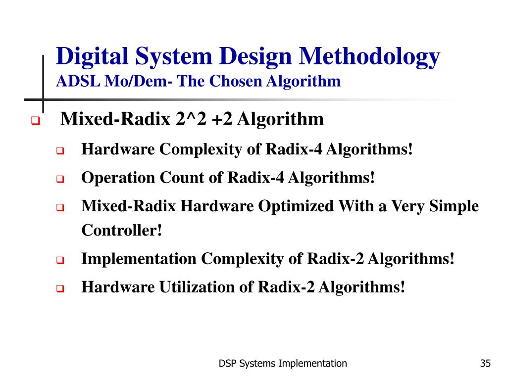 Digital System Design Methodology