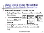 digital system design methodology design flow step one simulation important notes9