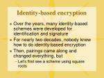 identity based encryption