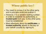 whose public key