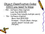 object classification codes occ you need to know