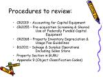 procedures to review