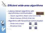 efficient wide area algorithms