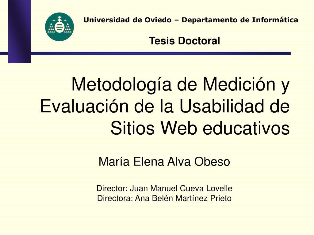Universidad de Oviedo – Departamento de Informática