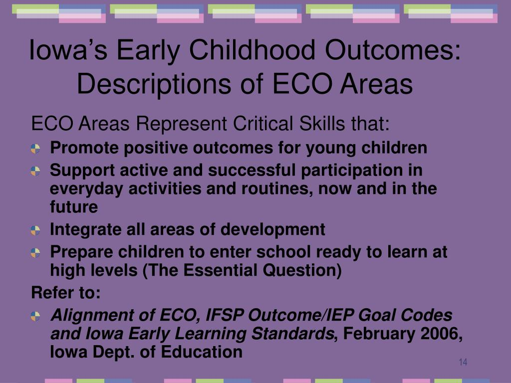 early childhood influences your outcome in Encyclopedia on early childhood development the child-parent relationship has a major influence on most aspects of child outcomes of an early.