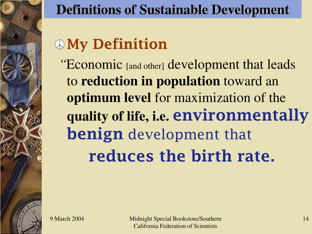 Definitions of Sustainable Development