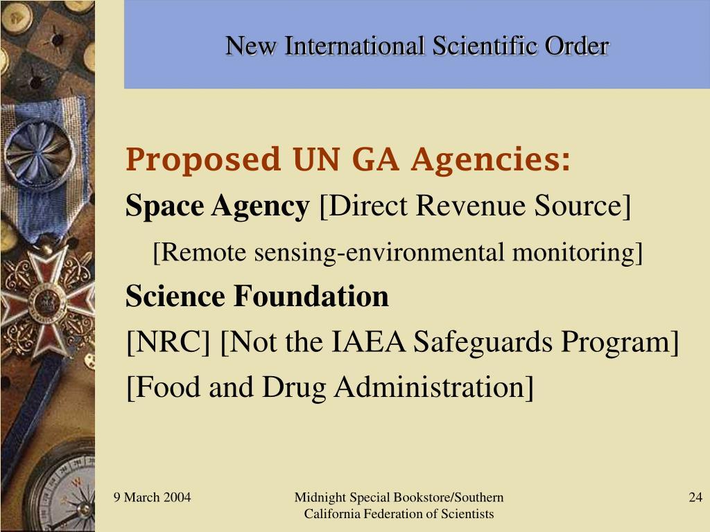 New International Scientific Order