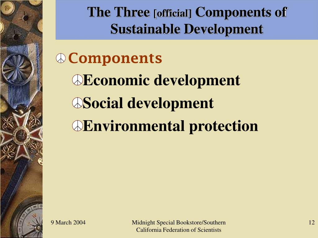 components of sustainable development pdf