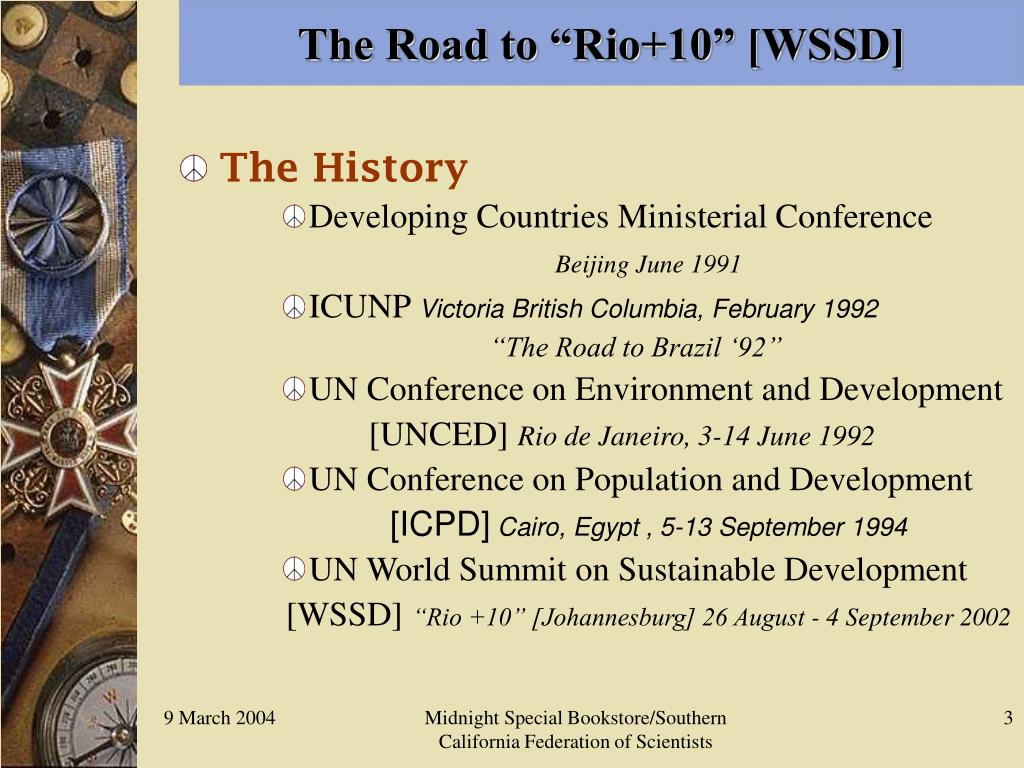 """The Road to """"Rio+10"""" [WSSD]"""