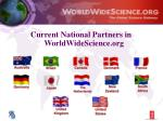 current national partners in worldwidescience org