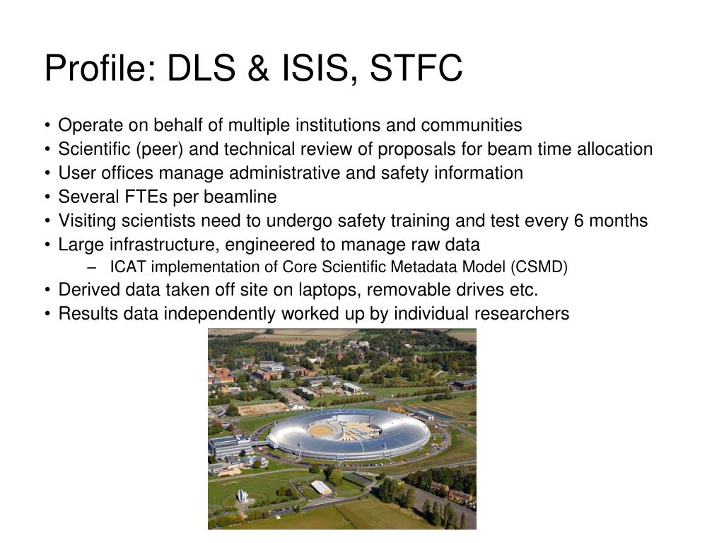 Profile: DLS & ISIS, STFC