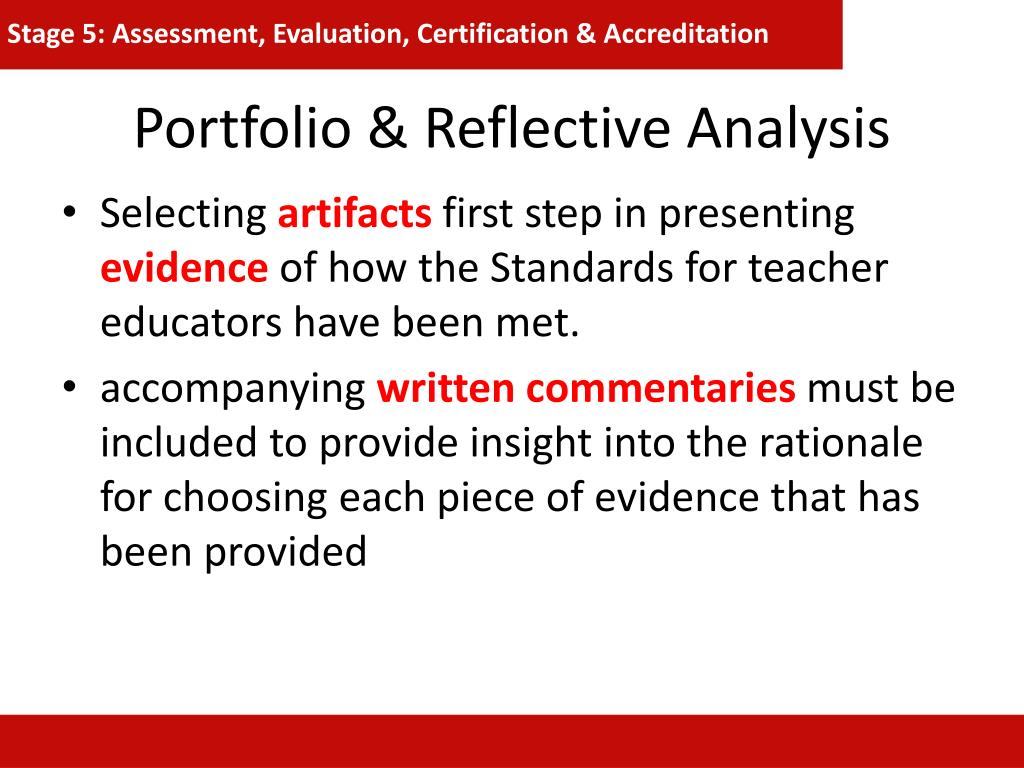 Stage 5: Assessment, Evaluation, Certification & Accreditation