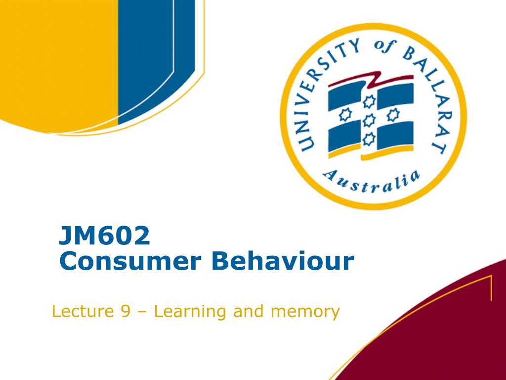 jm602 consumer behaviour