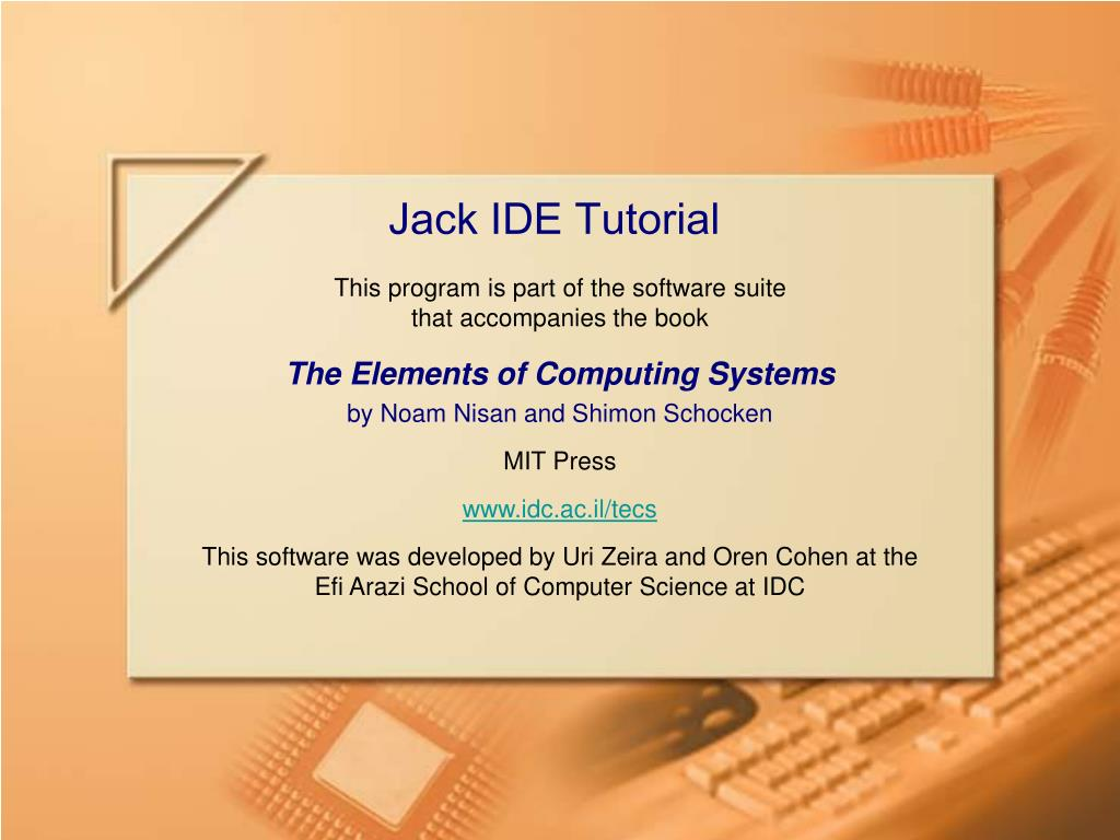 jack ide tutorial