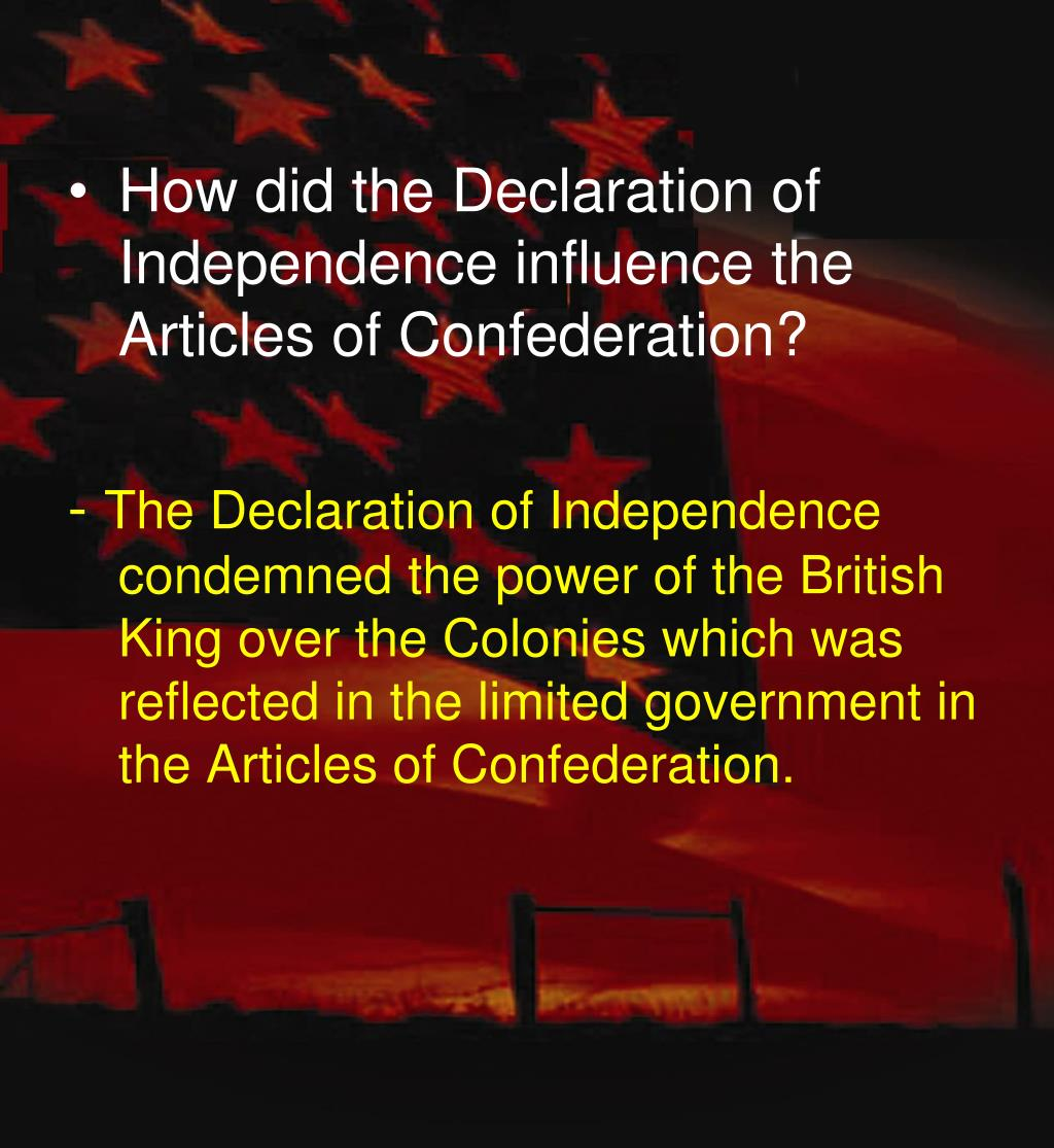 the influence of power in the declaration of independence The influence of the enlightenment chapter 18 enlightenment essay government by inspiring the founding fathers as they drafted the declaration of independence.