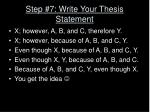 step 7 write your thesis statement