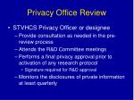 privacy office review