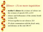silence 3 no more inquisition