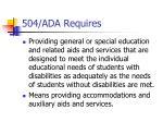 504 ada requires
