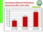international refereed publications produced by heis 1994 2008