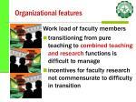 organizational features27