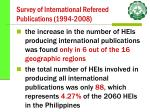survey of international refereed publications 1994 2008