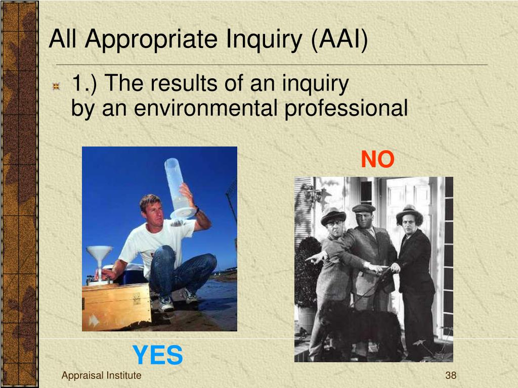 1.) The results of an inquiry