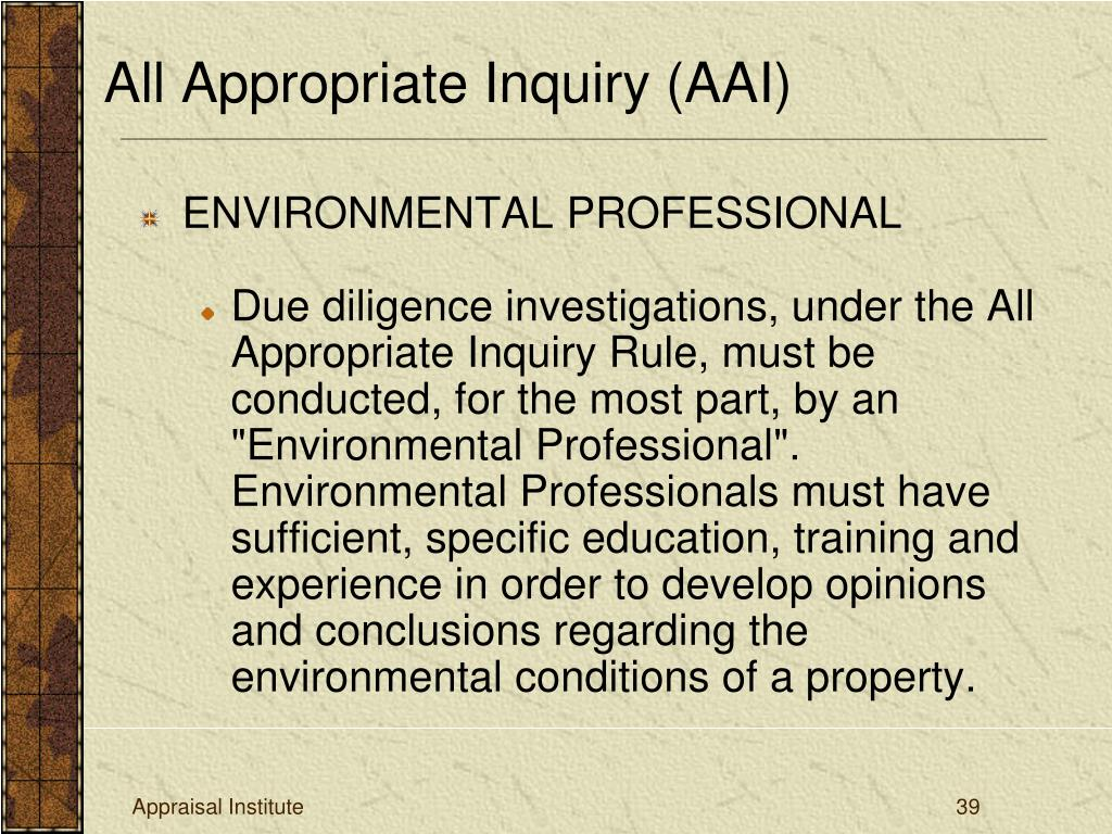 All Appropriate Inquiry (AAI)