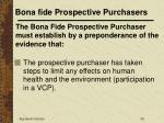 bona fide prospective purchasers25