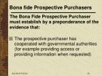 bona fide prospective purchasers26