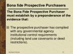 bona fide prospective purchasers27
