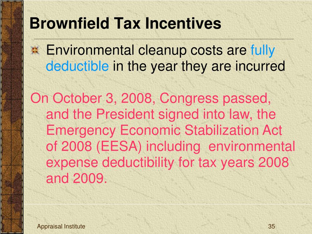 Brownfield Tax Incentives
