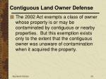 contiguous land owner defense