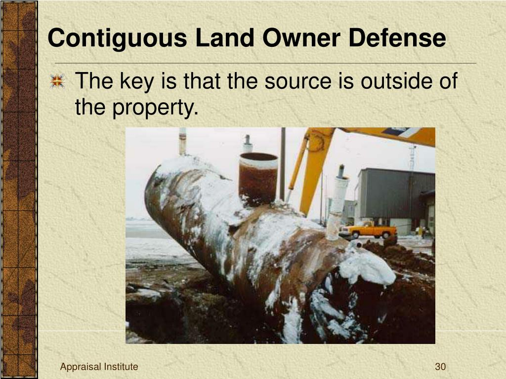 Contiguous Land Owner Defense