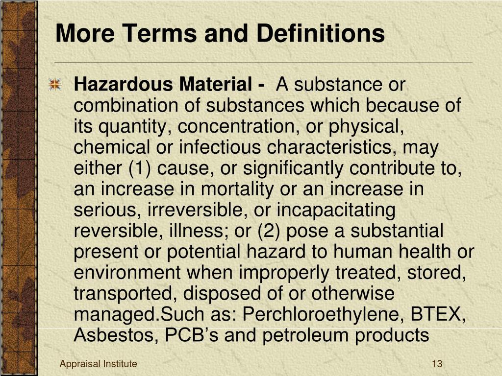 Hazardous Material -